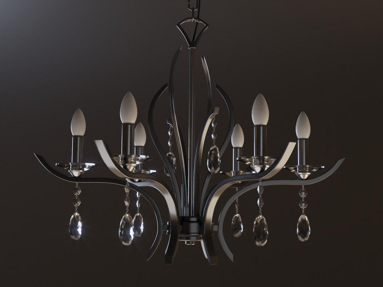 3d model interior modern chandelier cgtrader modern chandelier 3d model obj fbx blend dae mtl 1 aloadofball Images