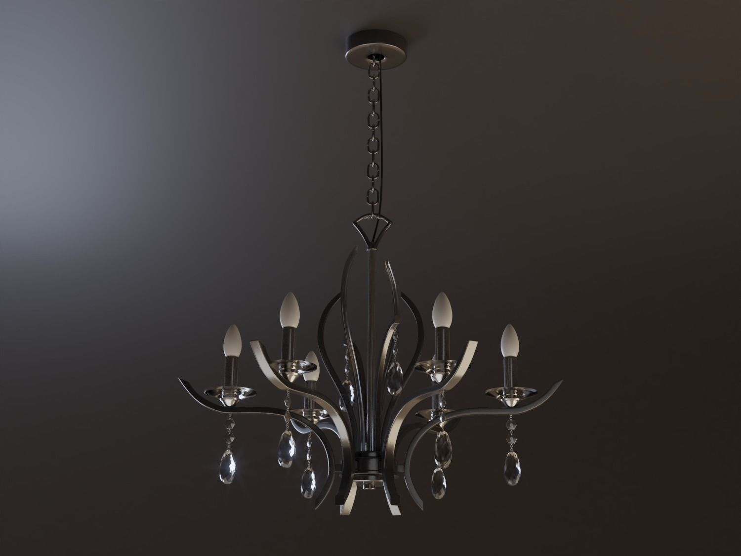 3D model interior Modern Chandelier | CGTrader