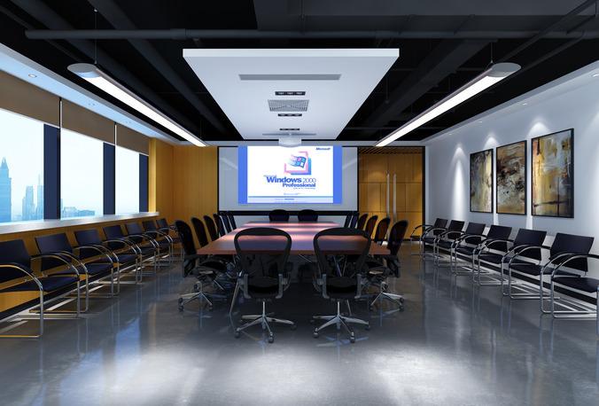 D Max Exhibition Hall : Smart seminar hall d cgtrader