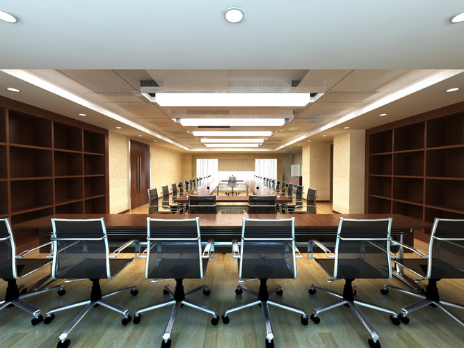 D Max Exhibition Hall : Spacious stylish conference hall d model cgtrader