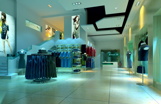 Modeling clothing stores