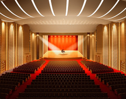 3d model theater with high-end lighting