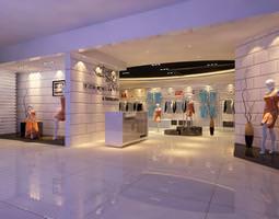 classy clothing store 3d model