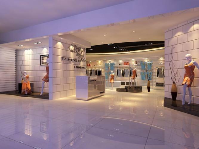 classy clothing store 3d model max obj dwg mtl tga 1