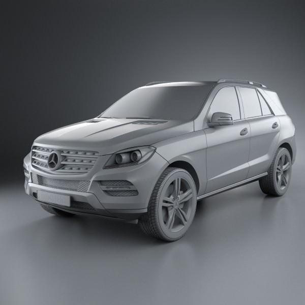 Mercedes benz m class 2012 3d model max obj 3ds fbx c4d for Mercedes benz 2012 models