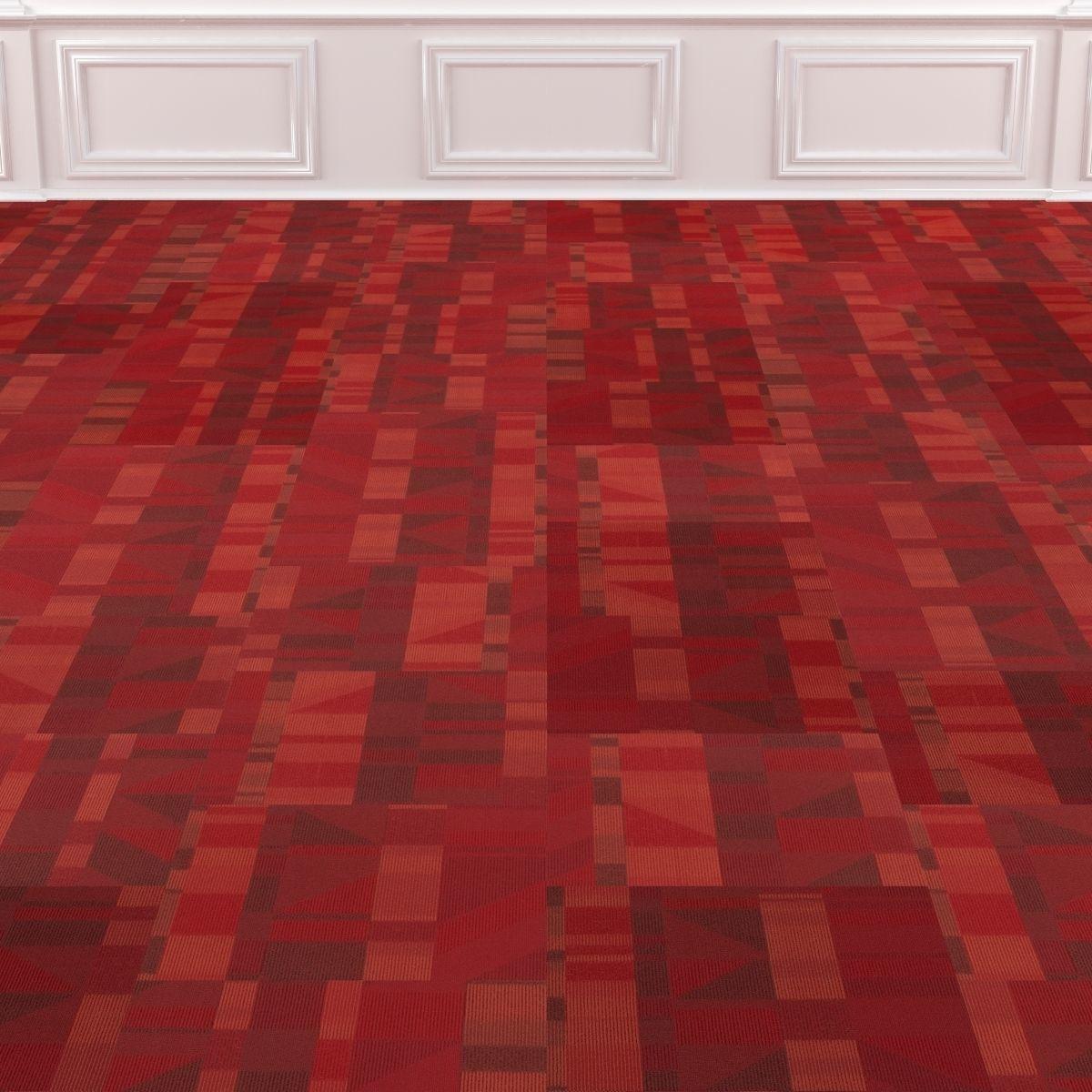 Wall To Carpet Tile No 5 Model Max Obj Mtl 2