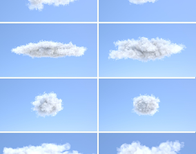 Volumetric Puff Clouds Collection 3D model