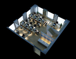 Cubicle 3d models cgtrader for 3d office planner