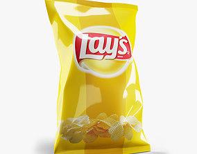 3D model Food packaging potatoes