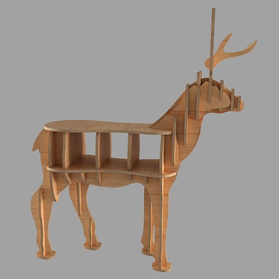 CNC vector plans for deer coffee table