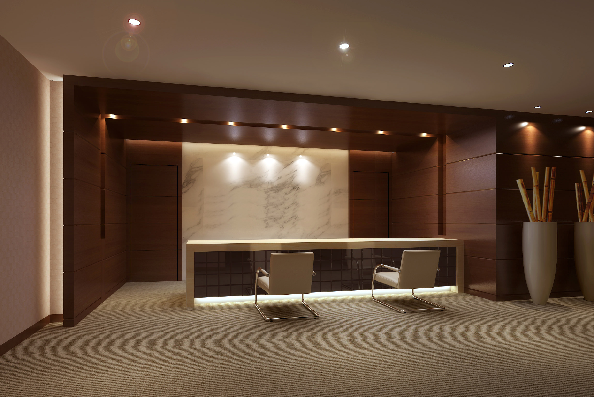 Office Space With High End Lighting 3d Model Max 1 ...