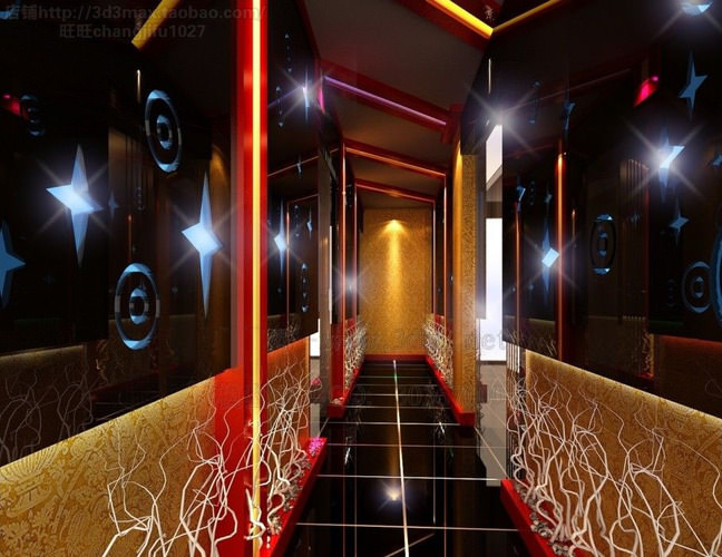 Corridor with floor and glass decor 3d cgtrader - Decor corridor ...