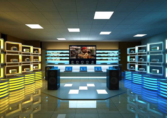 3D model Modern Electronics Store   CGTrader