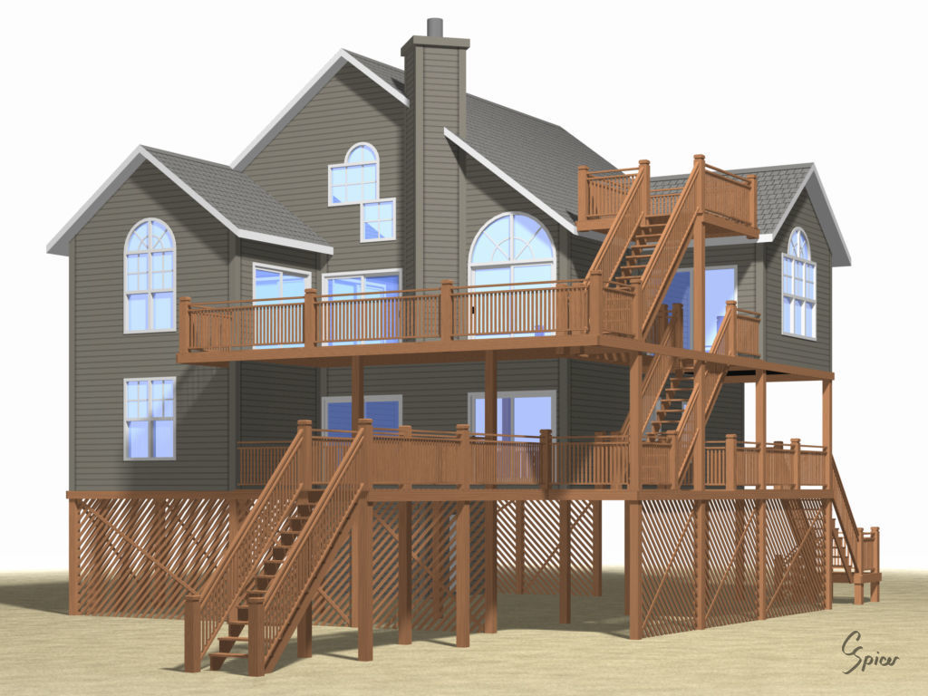 Summer Beach House Exterior 01