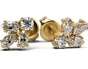 Classic elegant earrings 3D print model