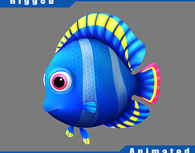 Cartoon Fish Rigged Animated 3D model