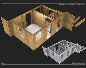 modular construction site and wall partitions 3D model