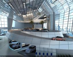 Exquisite Spacious Car Store 3D model