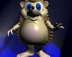 Cartoon Hedgehog Rigged 3D asset