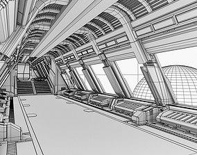 3D model Spaceship corridor 2