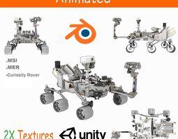 3D asset Curiosity rover