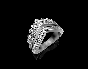 3D printable model classic beauty Diamond Ring