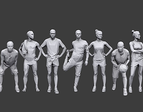 Lowpoly People Sports Pack 3D asset