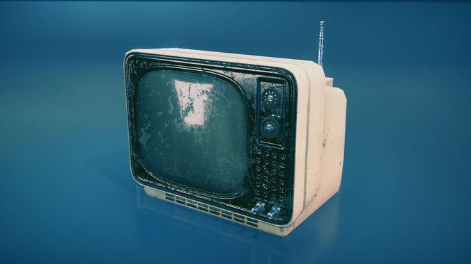 vintage tv 3d model fbx tga unitypackage 1