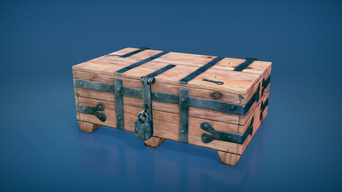 medieval chest 2 3d model fbx tga unitypackage prefab 1