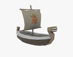 3D model ship low poly