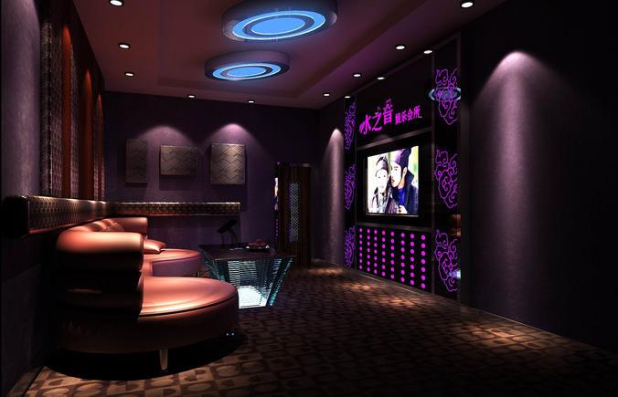 KTV With Stylish Interior 3D Model MAX