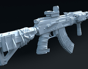 3D AK 47 Full Customized