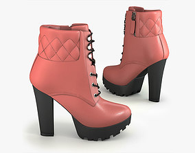 3D model Clarissa suede ankle boot