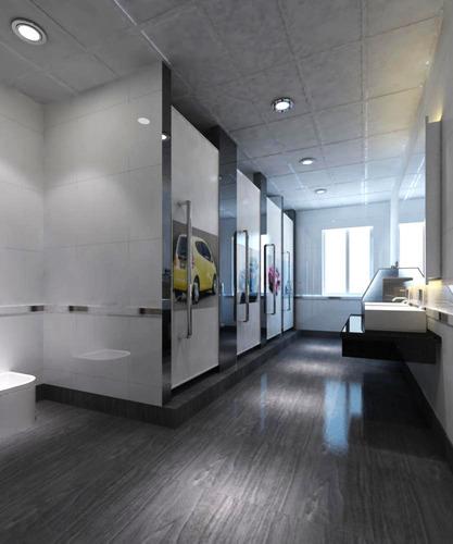 Womens Public Bathroom Toilet Video: 3D Washroom With Decor Doors