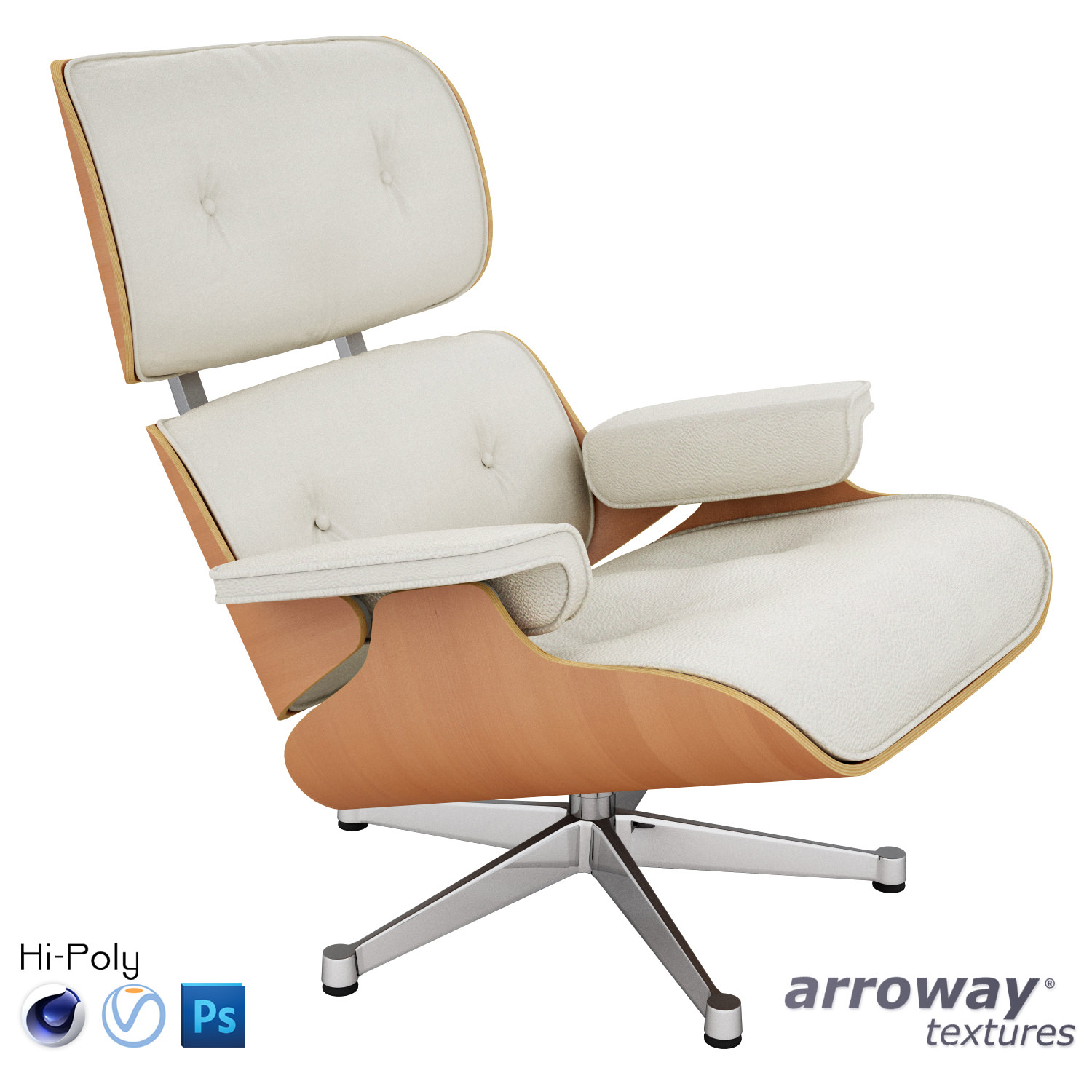 3d model vitra lounge eames chair hi poly cgtrader