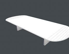 Office Meeting Table Low Poly Free 3D asset