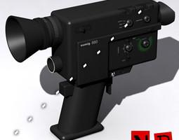 8mm camera 3d model 3ds