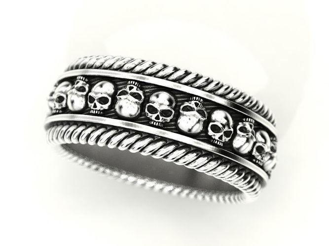 skulls ring 2 many sizes of the usa 3d model stl 1