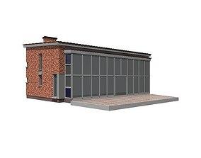 3D european family House