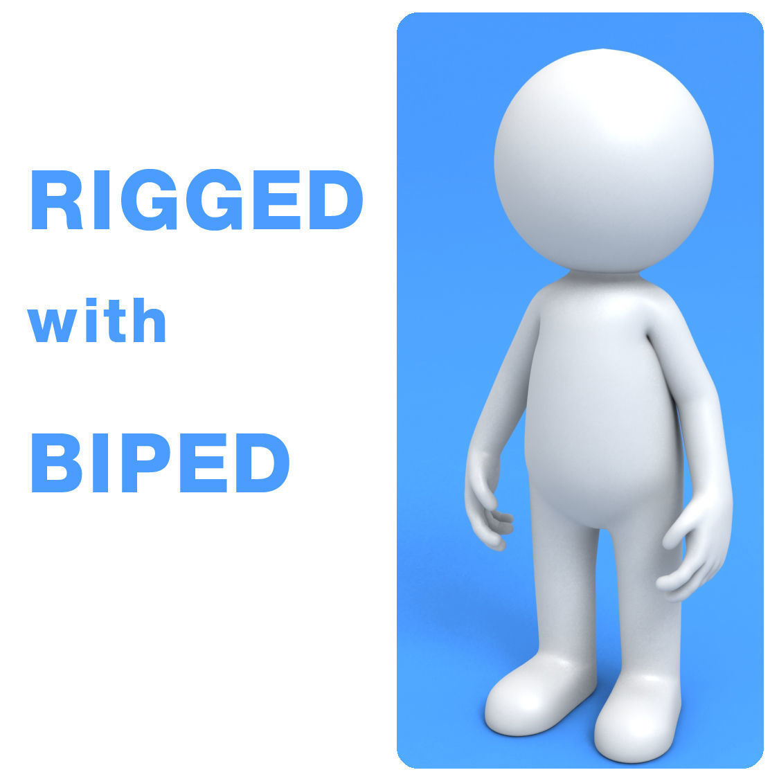 Stickman rigged with biped