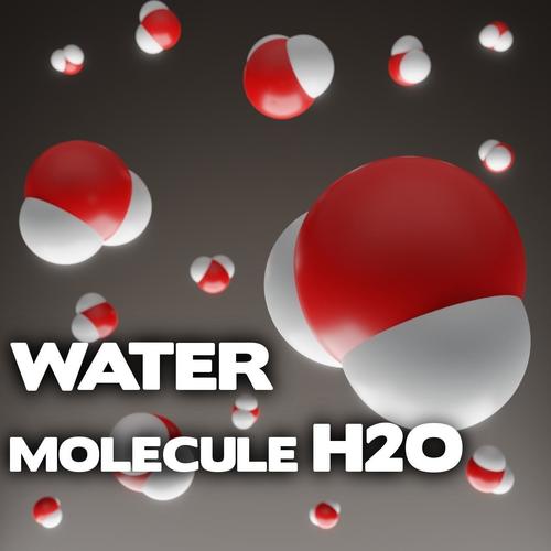 water molecule - h2o 3d model obj mtl 3ds fbx stl dae x3d 1
