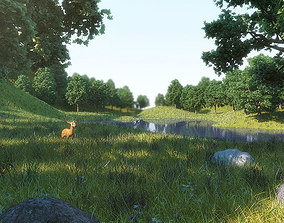 3D model Forest Deer