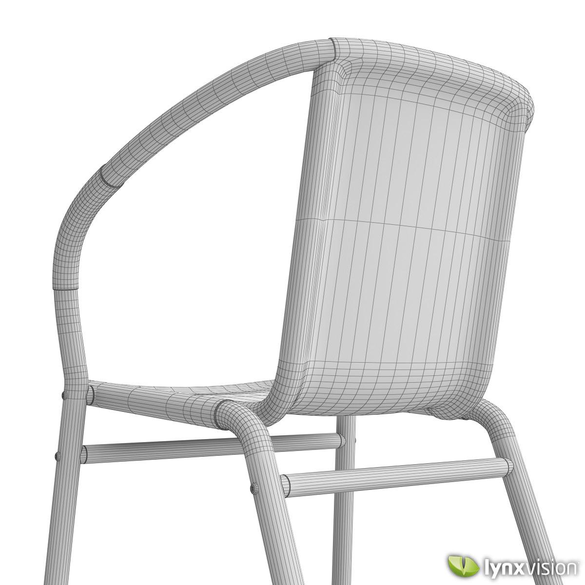 ... Outdoor Aluminum Chairs Collection 3d Model Max Obj Fbx C4d Lwo Lw Lws  Lxo Lxl 8 Part 52