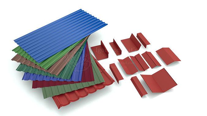 roofing elements 3d model max obj mtl fbx blend dae 1
