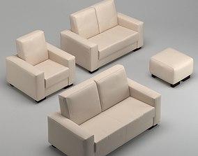 cushion 3D Sofa Set