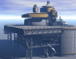 3d model processing plant station
