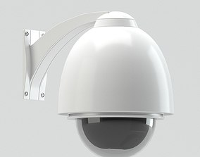 cam White Security Camera 3D model