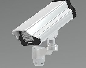 3D Black And White Security Camera
