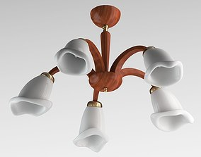 3D model Brown And White Sconce Lamp
