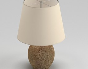 White And Brown Round Table Lamp 3D